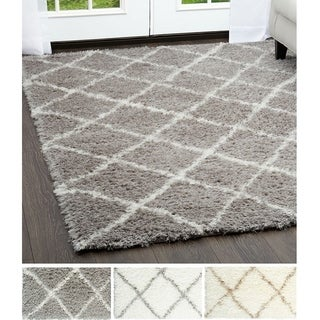 Home Dynamix Glimmer Collection Ivory and Grey Microfiber Area Rug
