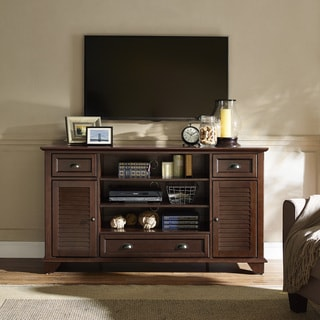 Crosley Furniture Palmetto Mahogany Wood 60-inch Full-size TV Stand