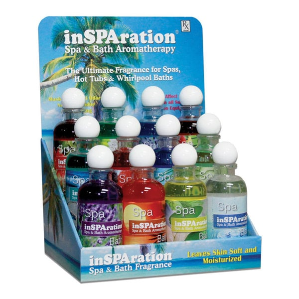 InSPAration Spa and Bath Aromatherapy for Spas, Hot Tubs, and Whirlpool Baths 12-Pack