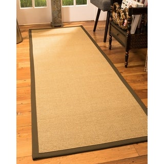 "Handcrafted Devon Natural Sisal Rug Malt Binding 2'6"" x 8'"