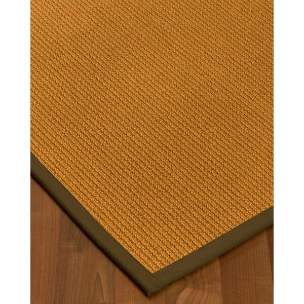 Handcrafted Davlin Natural Sisal Rug Fudge Binding 2' x 3'