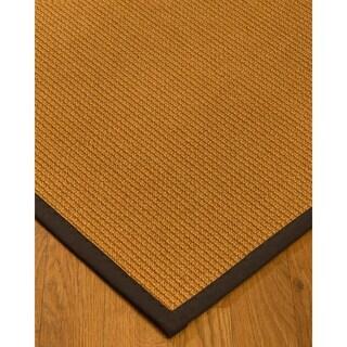 Handcrafted Davlin Natural Sisal Rug Fudge Binding 9' x 12' with Bonus Rug Pad