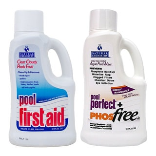Natural Chemistry Pool Perfect & PHOSfree, 2 Liters and Pool First Aid, 2 Liters