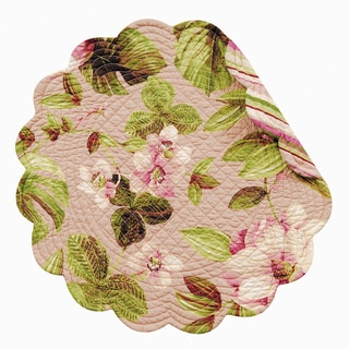 Carrieanne Quilted Round Placemat