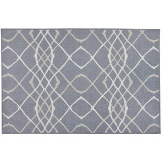 RUGGABLE Washable Indoor/ Outdoor Stain Resistant Pet Accent Rug Amara Grey (3' x 5') - 3' x 5'
