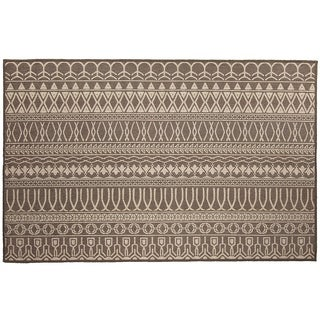 RUGGABLE Washable Indoor/Outdoor Stain Resistant Accent Rug Cadiz Espresso (3' x 5')