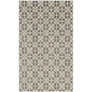 RUGGABLE Washable Indoor/ Outdoor Stain Resistant Pet Accent Rug Floral Tiles Rich Grey & White (3' x 5') - 3' x 5'|https://ak1.ostkcdn.com/images/products/15341061/P21804041.jpg?impolicy=medium