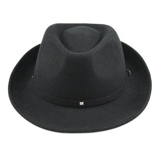 Milano Collection Rockstud Wool Felt Fedora Hat