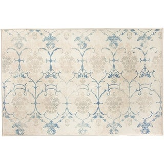 RUGGABLE Washable Indoor/ Outdoor Stain Resistant Accent Rug Leyla Creme Vintage (3' x 5')