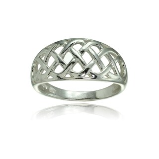 Mondeivo Sterling Silver High Polished Filigree Weave Ring