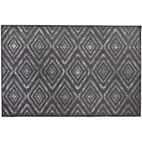 RUGGABLE Washable Indoor/ Outdoor Stain Resistant Pet Accent Rug Prism Black (3' x 5') - 3' x 5'