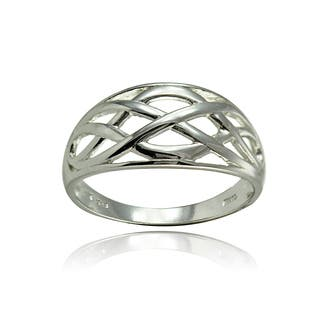 Mondevio Sterling Silver High Polished Filigree Knot Ring|https://ak1.ostkcdn.com/images/products/15341104/P21804103.jpg?impolicy=medium