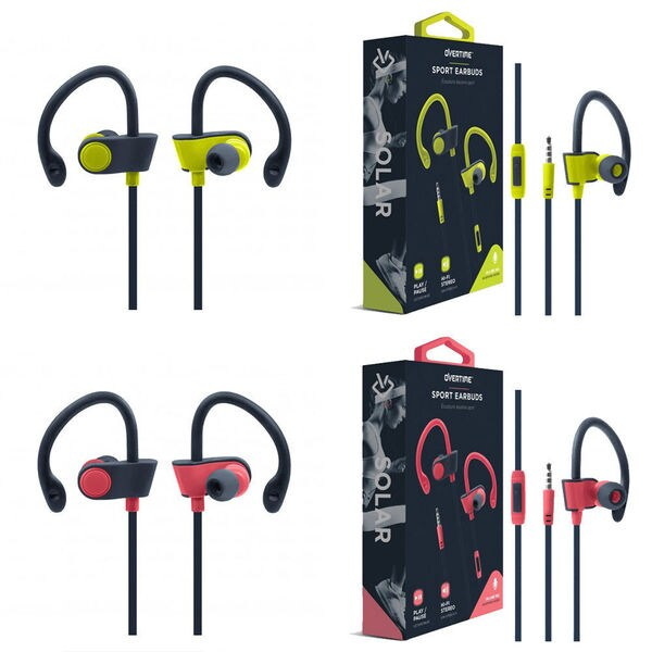 e15ef711314 OVERTIME Solar Sport Earbud Wrap 3.5mm Hi-Fi Stereo In-Ear Earphone  Headphone