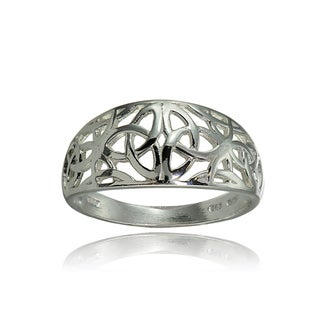 Link to Mondevio Sterling Silver High Polished Filigree Cletic Knot Ring Similar Items in Rings