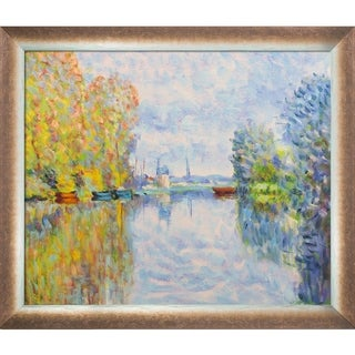 Monet Autumn on the Seine at Argenteuil Hand Painted Oil Reproduction