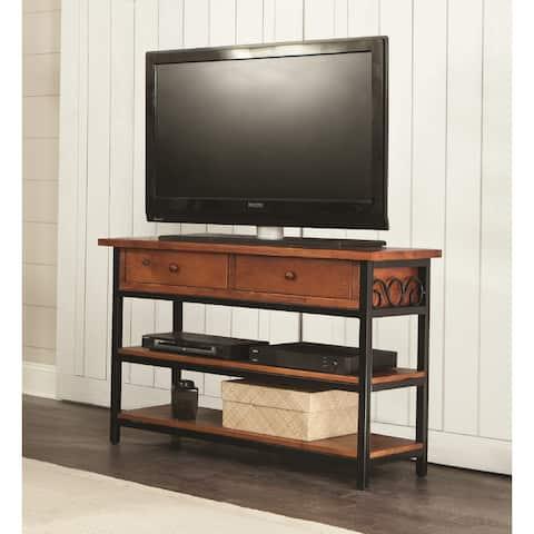 Artesian Wood/ Metal Scroll 48-inch W TV Stand