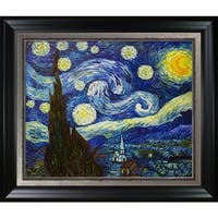 Vincent Van Gogh 'Starry Night' Hand Painted Framed Oil Reproduction on Canvas