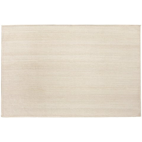 RUGGABLE Washable Stain Resistant Pet Accent Rug Solid Textured Cream - 3' x 5'