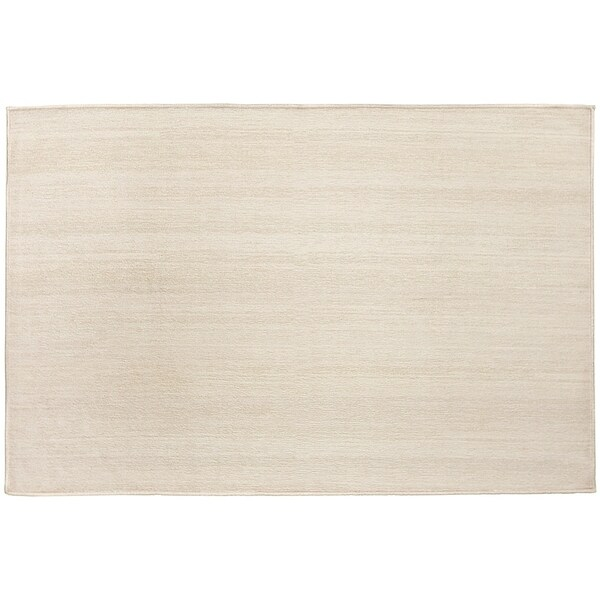 Ruggable Washable Stain Resistant Pet Accent Rug Solid Textured Cream   3' X 5' by Ruggable