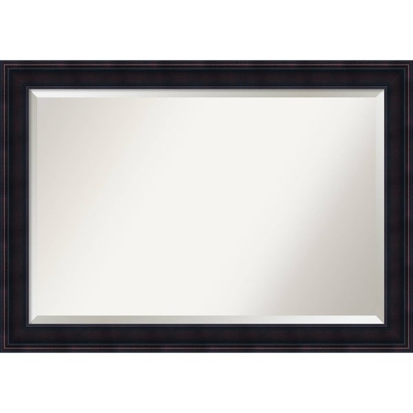 Bathroom Mirror Extra Large, Annatto Mahogany 41 x 29-inch