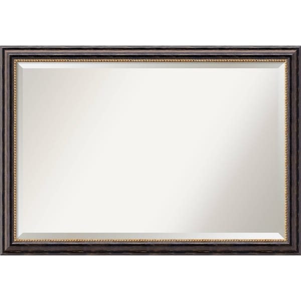 Wall Mirror Extra Large, Tuscan Rustic 40 x 28-inch - Black/Brown - extra large - 40 x 28-inch