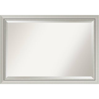 Wall Mirror Extra Large, Romano Narrow Silver 40 x 28-inch - Silver/Black