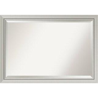 Wall Mirror Extra Large, Romano Narrow Silver 40 x 28-inch - Silver/Black - extra large - 40 x 28-inch