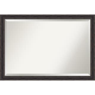 Wall Mirror Extra Large, Narrow Rustic Pine 39 x 27-inch - Brown