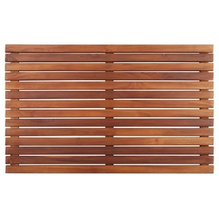 "Teak Brown Shower Mat 31.4""x19.6"""