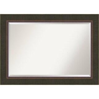 Wall Mirror Extra Large, Milano Bronze 43 x 31-inch - Bronze/Black