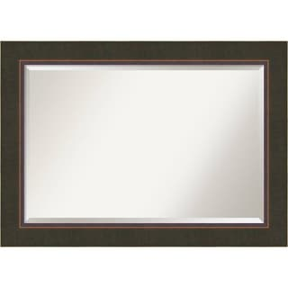Wall Mirror Extra Large, Milano Bronze 43 x 31-inch - Brown - extra large - 43 x 31-inch
