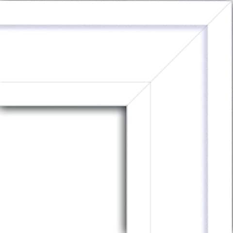 Wall Mirror, Craftsman White Wood