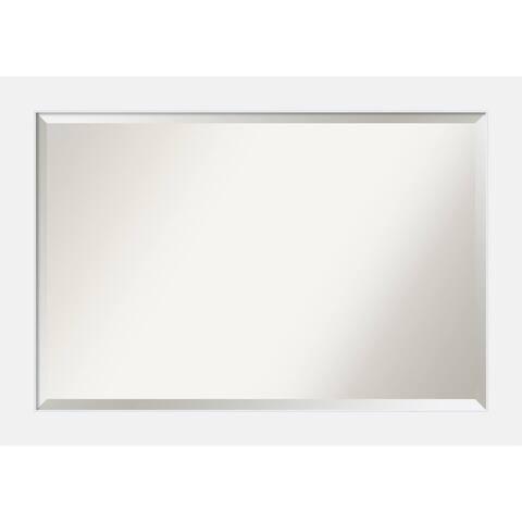Wall Mirror, Corvino White Wood