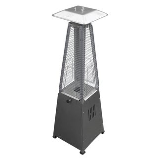 Hiland Glass Tube Table Top Patio Heater In Stainless Steel