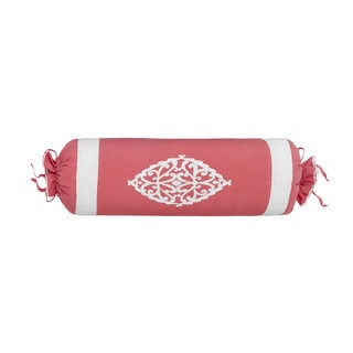 Dena Atelier Indigo Dream Embroidered Neck Roll Throw Pillow