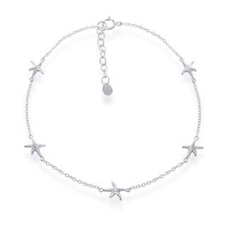 La Preciosa Sterling SIlver Italian Nautical Starfish Anklet Bracelet