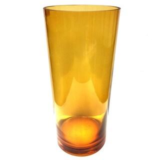 Amber Cylinder Vase