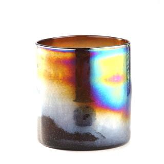 Metallic Multicolored Glass Vase
