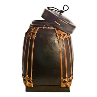 NASI Black Bamboo Medium Decorative Storage Containers