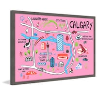 'Calgary Iconic Sights' Framed Painting Print