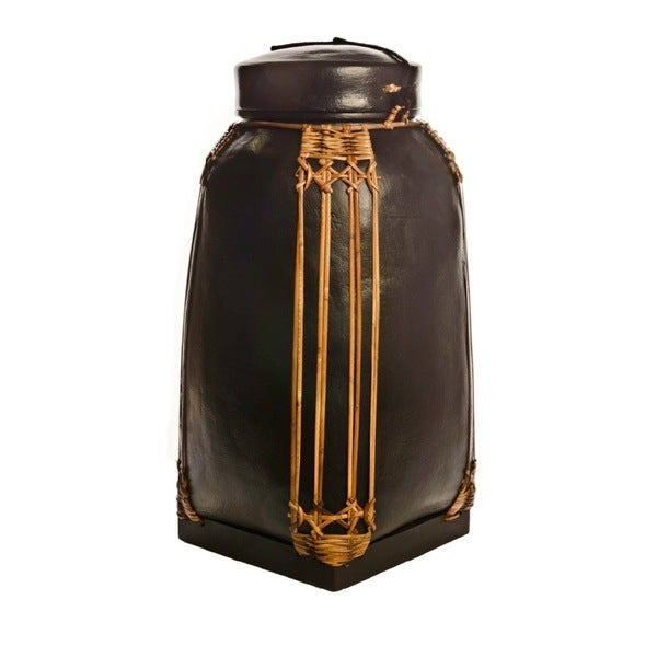 Decorative NASI Black Bamboo Large Storage Containers