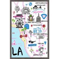 'Star Capital - LA' Framed Painting Print