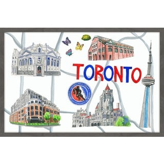 Toronto Architecture' Framed Painting Print
