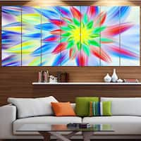 Designart 'Dance of Multi-Color Petals' Floral Wall Art on Canvas