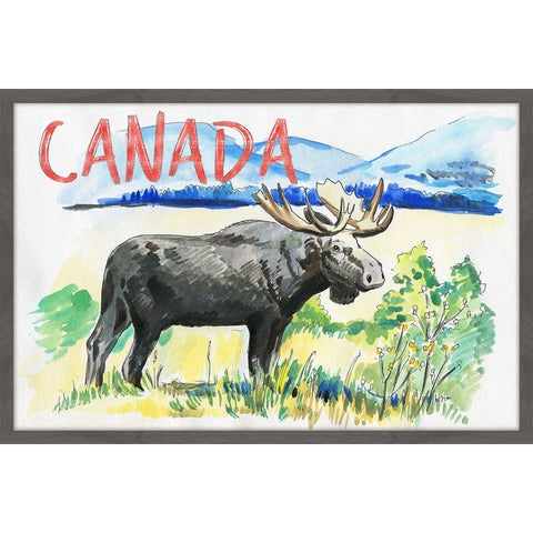 Moose - Canada Red' Framed Painting Print
