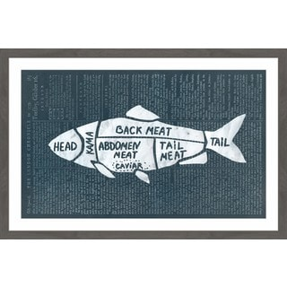 Fish Cuts' Framed Painting Print