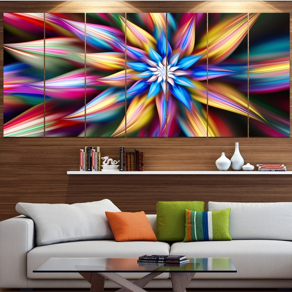 Designart 'Exotic Multi-Color Flower Petals' Floral Wall Art on Canvas