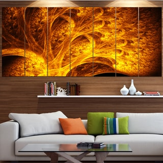Designart 'Magical Yellow Psychedelic Tree' Abstract Art on Canvas