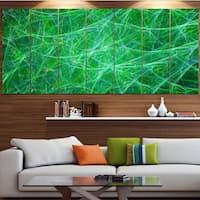 Designart 'Mystic Green Fractal Veins' Abstract Wall Art on Canvas