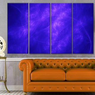 Designart 'Blue Fractal Abstract Pattern' Abstract Art on Canvas
